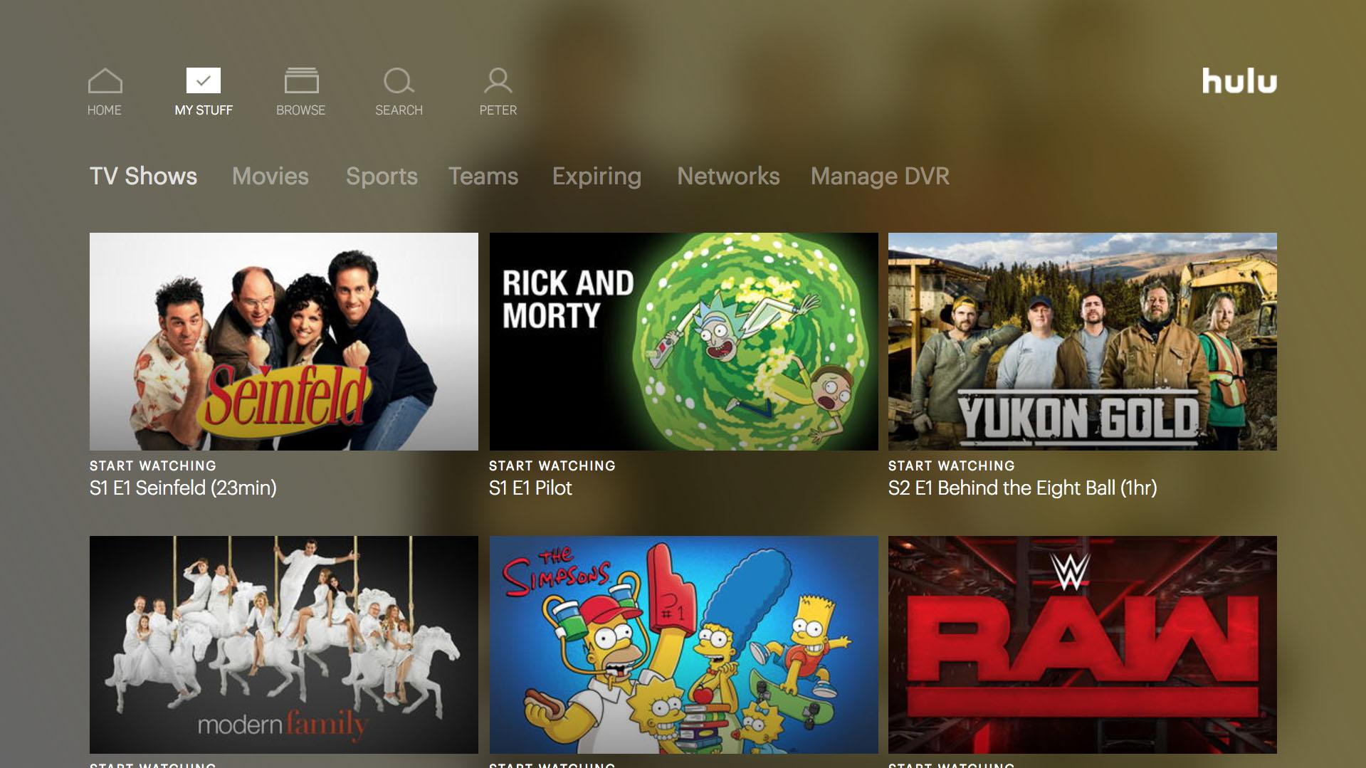 My Stuff On Hulu
