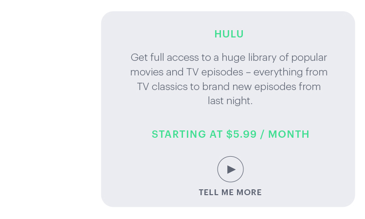 Hulu: Get full access to a huge library of popular movies and TV episodes ...